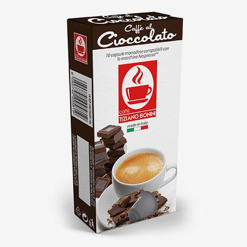 Caffè Bonini koffie met chocoladesmaak capsules voor nespresso (10st )