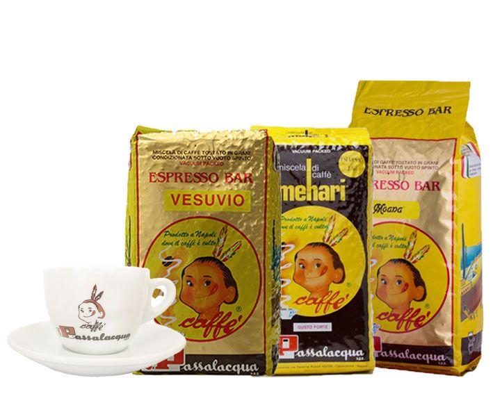 Passalacqua koffiebonen 3kg + 1 cappuccino tas GRATIS