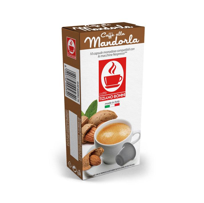Caffè Bonini koffie met Amandelsmaak capsules voor nespresso (10st )