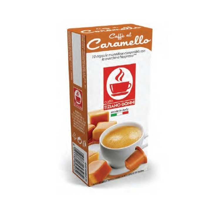 Caffè Bonini koffie met karamelsmaak capsules voor nespresso (10st )