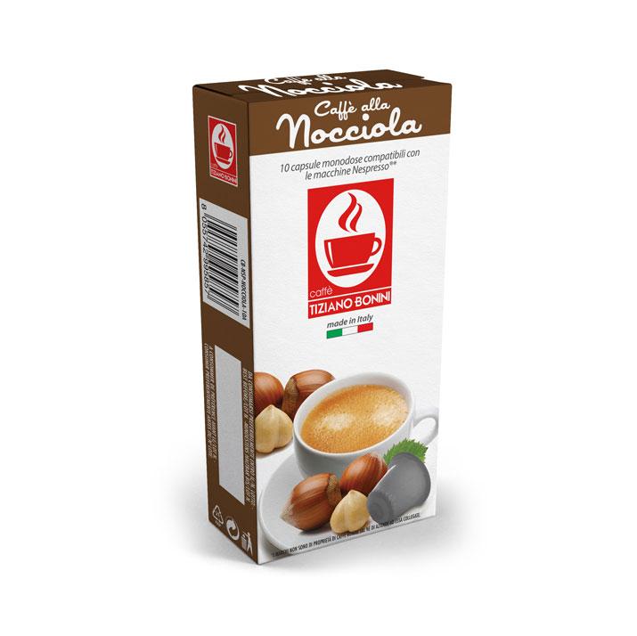 Caffè Bonini koffie met hazelnootsmaak capsules voor nespresso (10st )