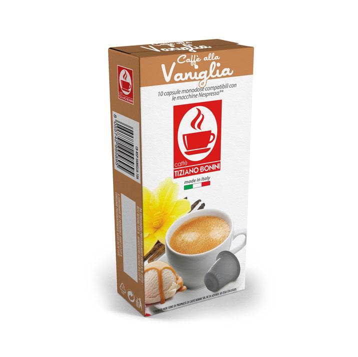 Caffè Bonini koffie met vanillesmaak capsules voor nespresso (10st )