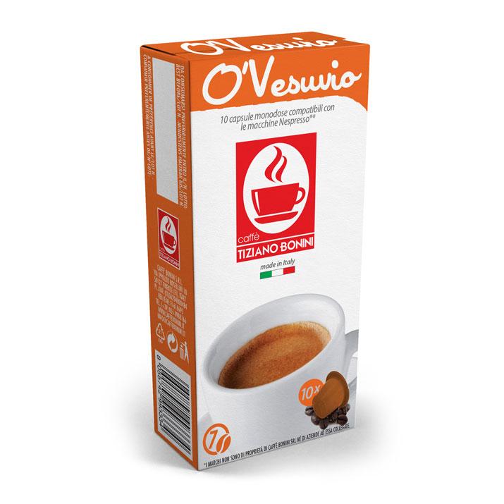 Caffè Bonini O'Vesuvio capsules voor nespresso (10st )
