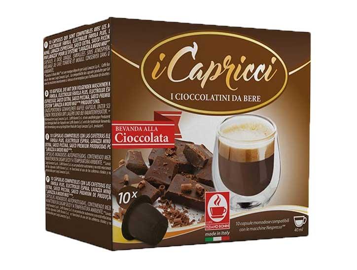 Caffè Bonini chocolade capsules voor nespresso (10st )