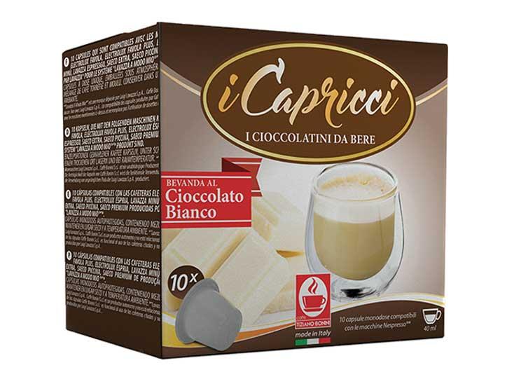 Caffè Bonini witte chocolade capsules voor nespresso (10st )