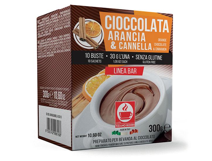 Bonini chocoladedrank met appelsien en kaneel ( 10 x 30gr )