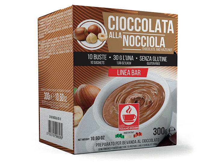 Bonini chocoladedrank met Hazelnoot ( 10 x 30gr )