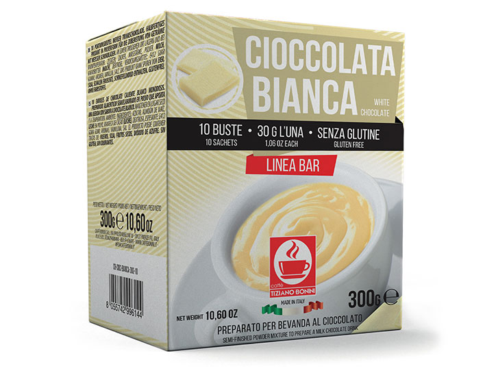 Bonini chocoladedrank witte chocolade ( 10 x 30gr )