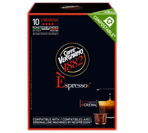 Caffe Vergnano Cremoso capsules voor nespresso (10st )
