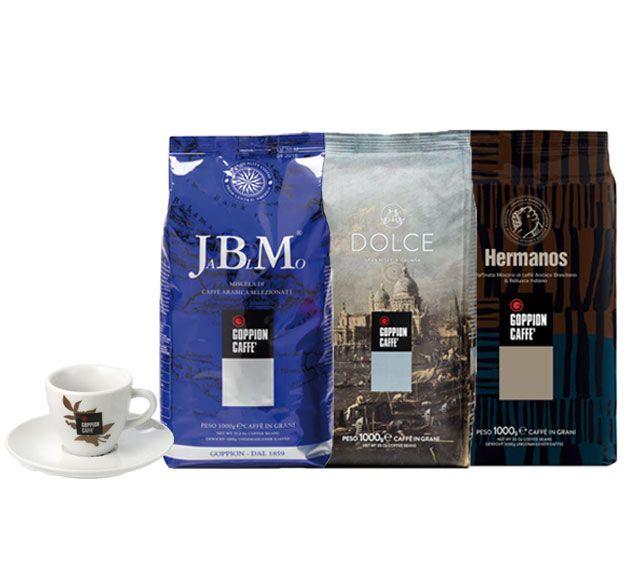 Goppion koffiebonen 3kg + 1 espresso tas GRATIS