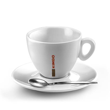 Kimbo LARGE cappuccino tas en ondertas (280 ml)