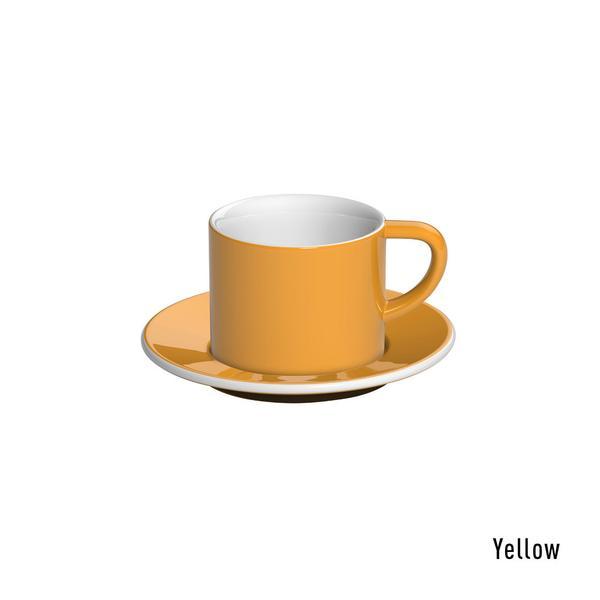 Loveramics bond cappuccino tas en ondertas (150ml) geel