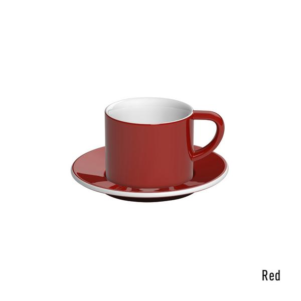 Loveramics bond cappuccino tas en ondertas (150ml) rood
