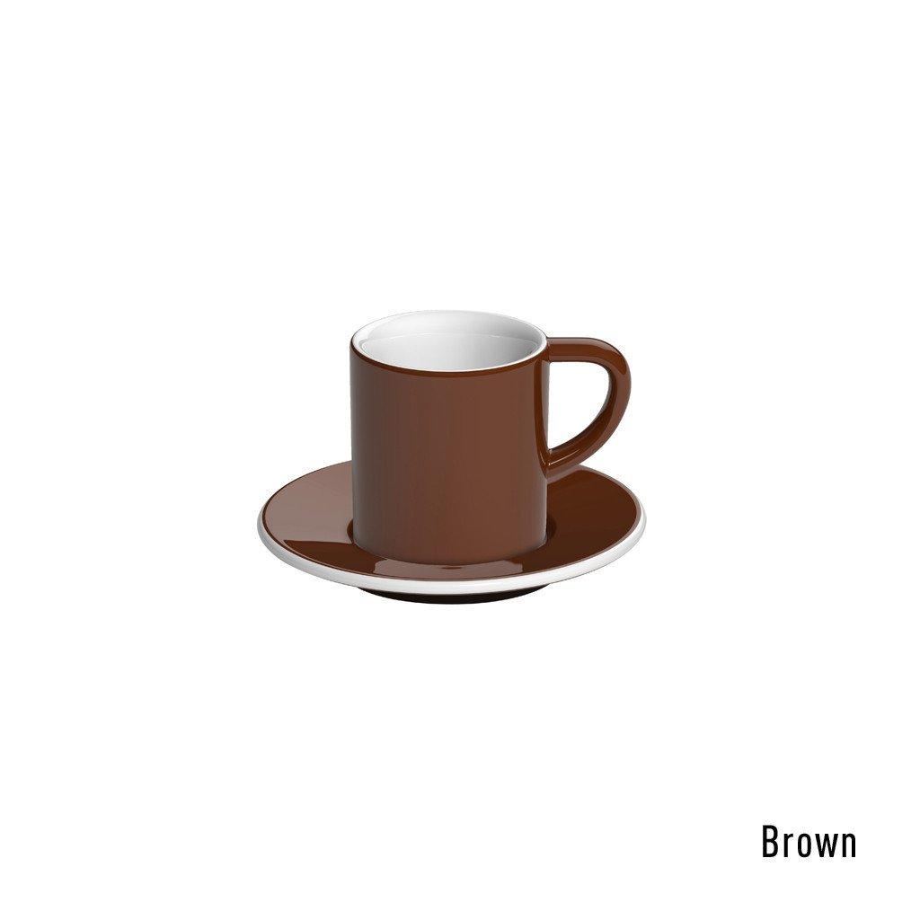Loveramics bond espresso tasse et soucoupe (80ml) brun