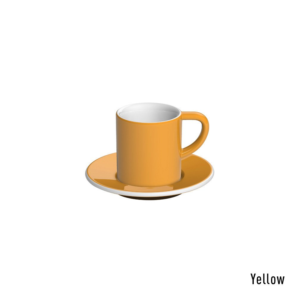 Loveramics bond espresso tas ZONDER ondertas (80ml) geel