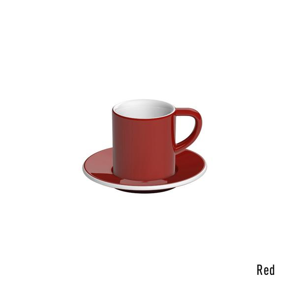 Loveramics bond espresso tas en ondertas (80ml) rood