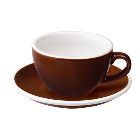 Loveramics egg cappuccino tas en ondertas (200ml) bruin