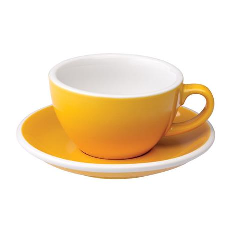 Loveramics egg cappuccino tas en ondertas (200ml) Geel
