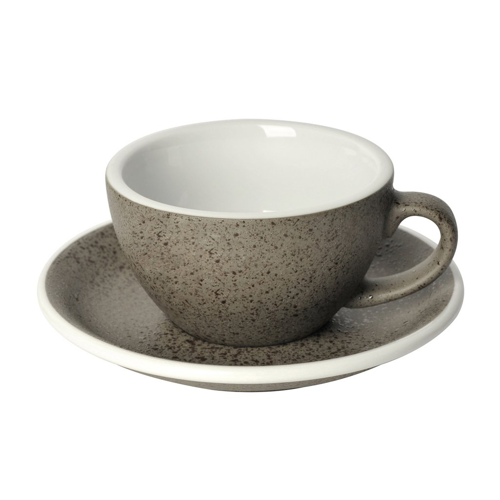 Loveramics egg cappuccino tas en ondertas (200ml) graniet