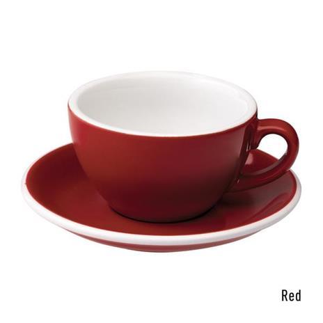 Loveramics egg cappuccino tas en ondertas (200ml) rood