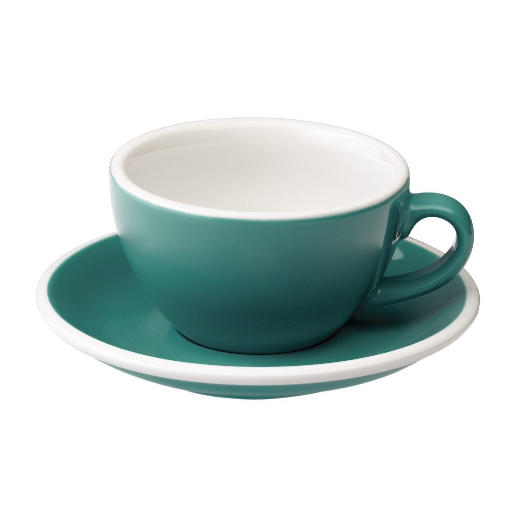 Loveramics egg cappuccino tas en ondertas (200ml) teal