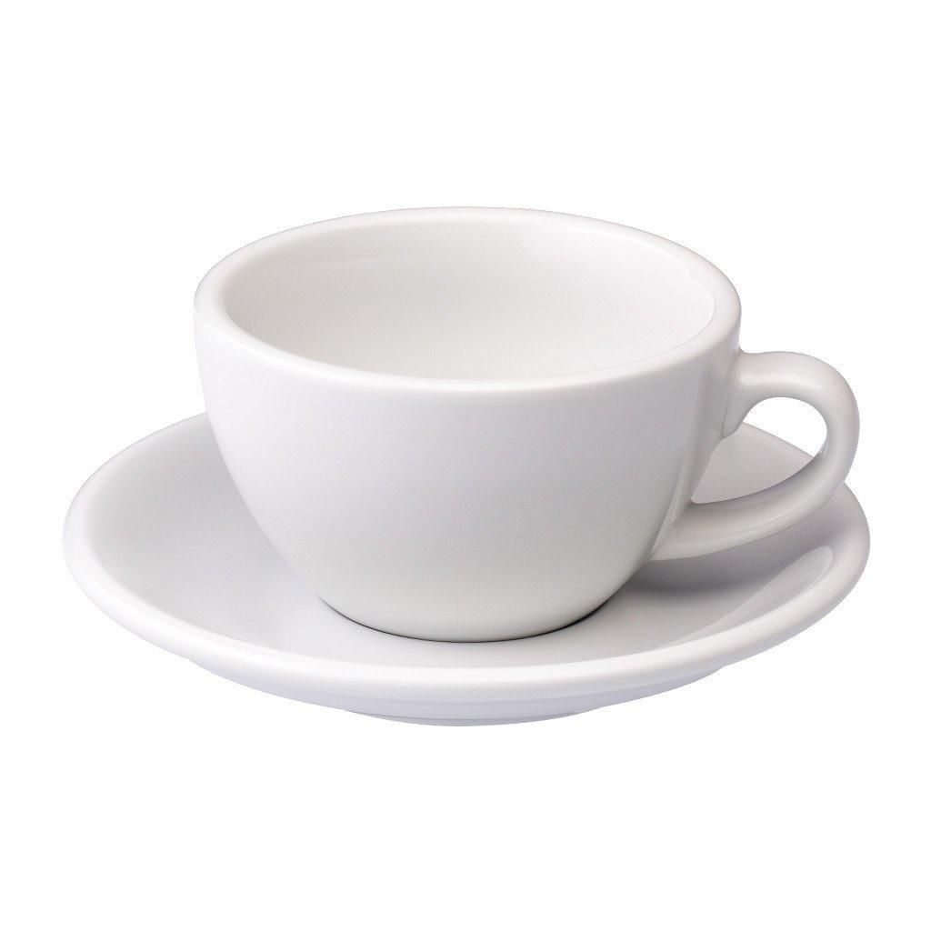 Loveramics egg cappuccino tas en ondertas (200ml) wit