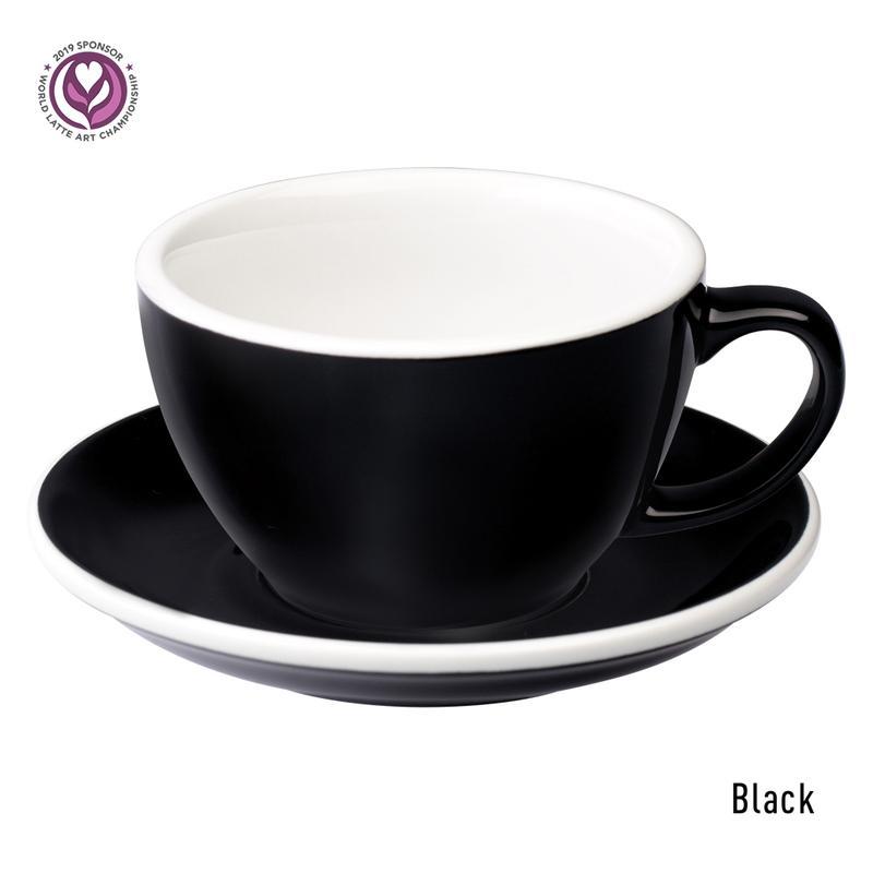 Loveramics egg café latte tas en ondertas (300ml) black