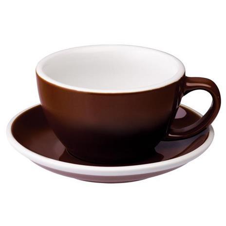 Loveramics egg café latte tas en ondertas (300ml) Bruin