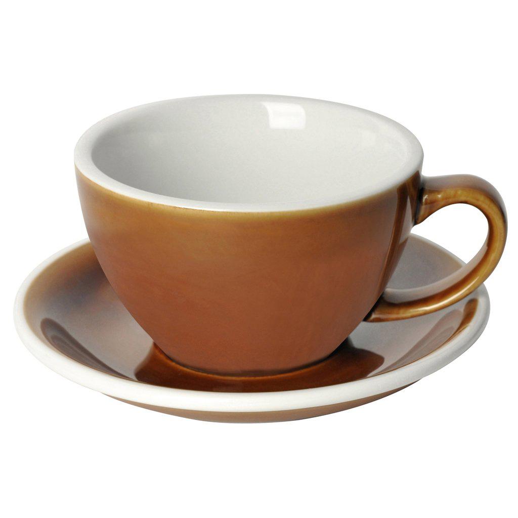 Loveramics egg café latte tas en ondertas (300ml) caramel