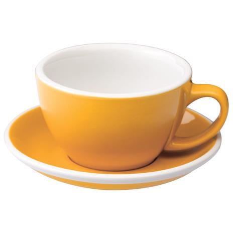 Loveramics egg café latte tas en ondertas (300ml) Geel