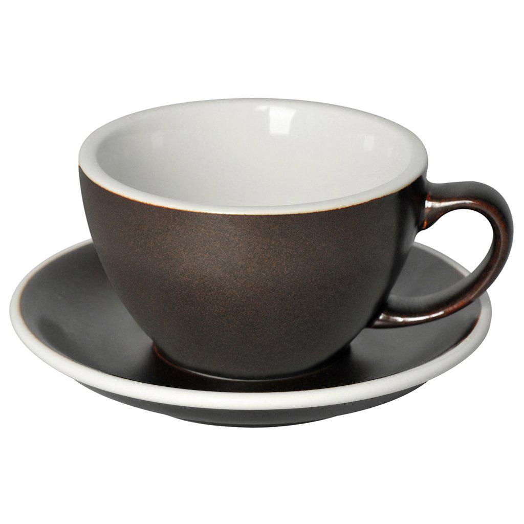 Loveramics egg café latte tas en ondertas (300ml) gunpowder