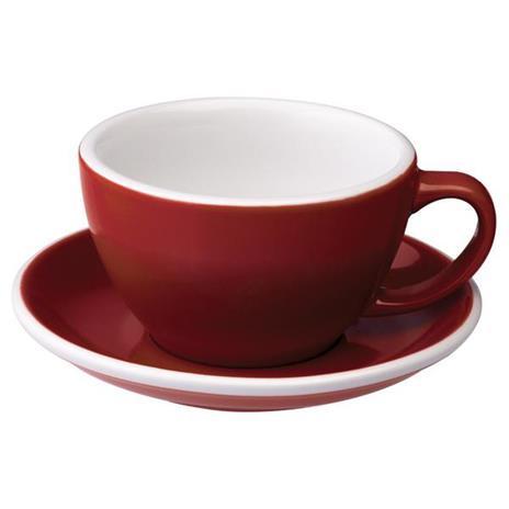 Loveramics egg café latte tas en ondertas (300ml) Rood
