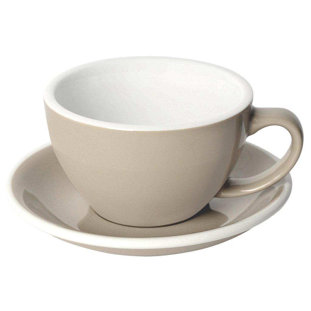 Loveramics egg café latte tas en ondertas (300ml) taupe
