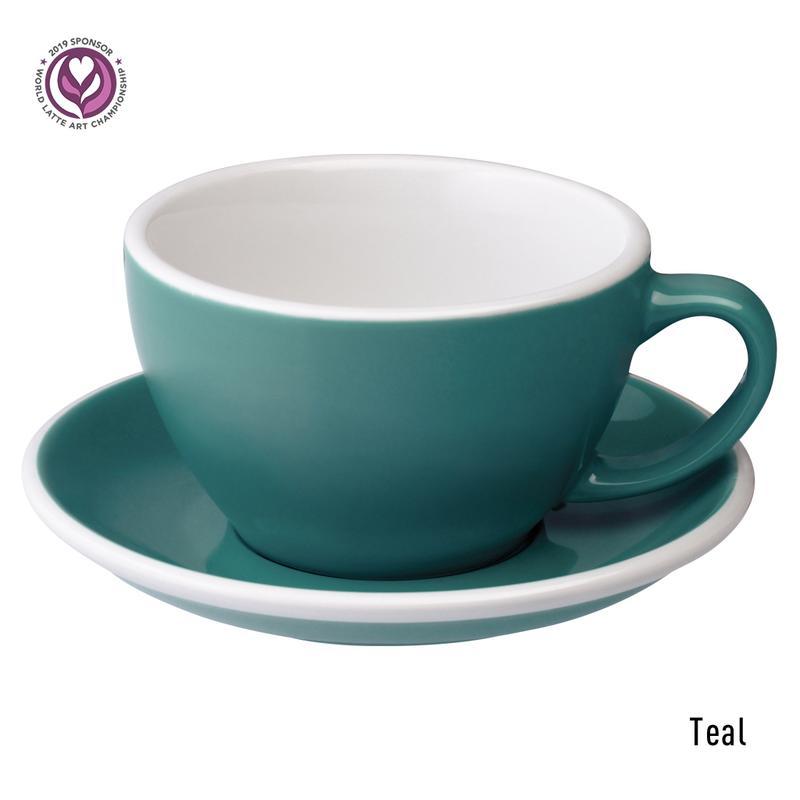 Loveramics egg café latte tas en ondertas (300ml) teal