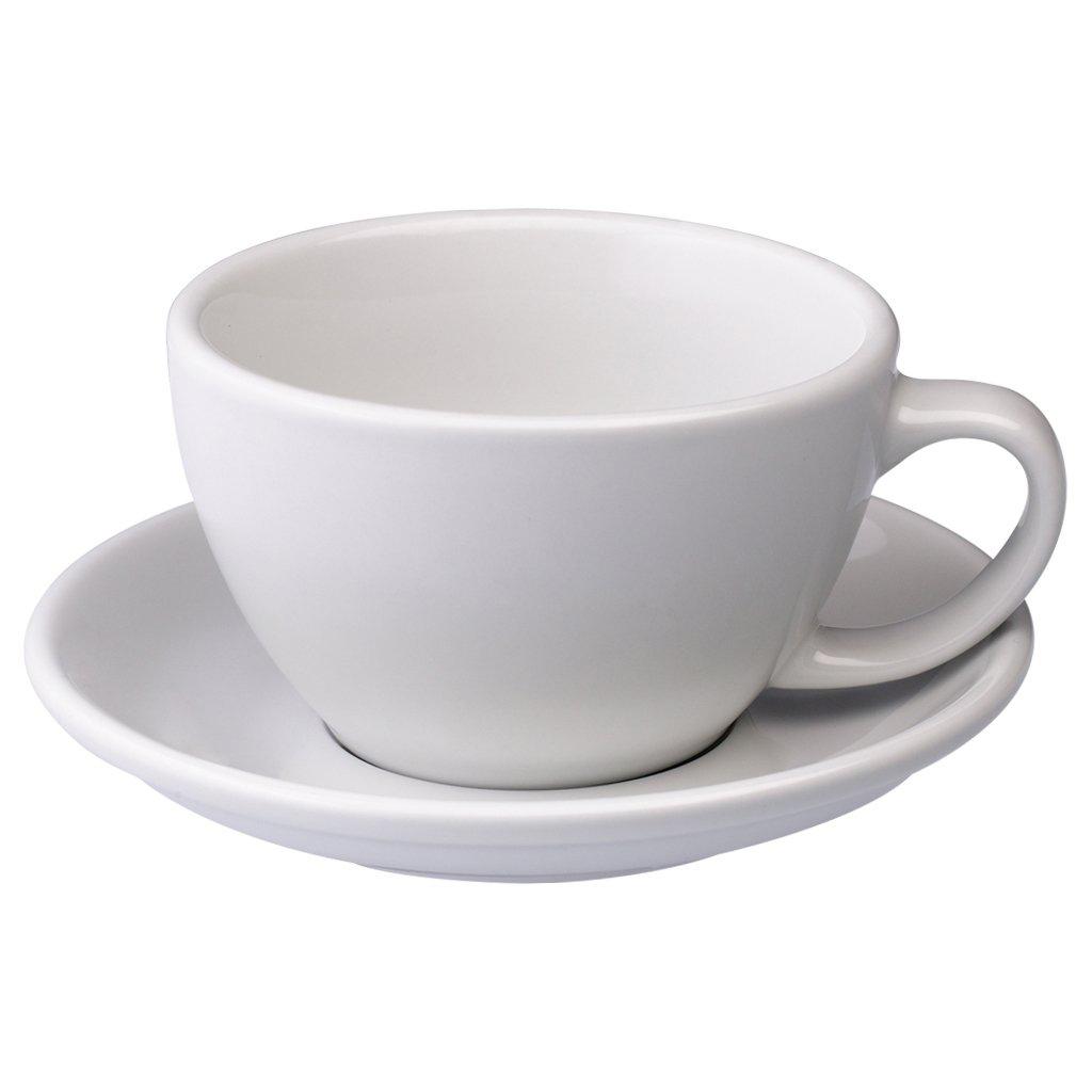 Loveramics egg café latte tas en ondertas (300ml) wit