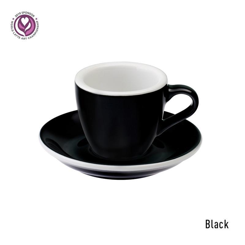 Loveramics egg espresso tas en ondertas (80ml) black