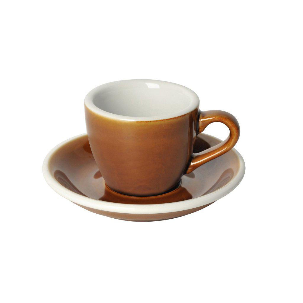 Loveramics egg espresso tas en ondertas (80ml) caramel