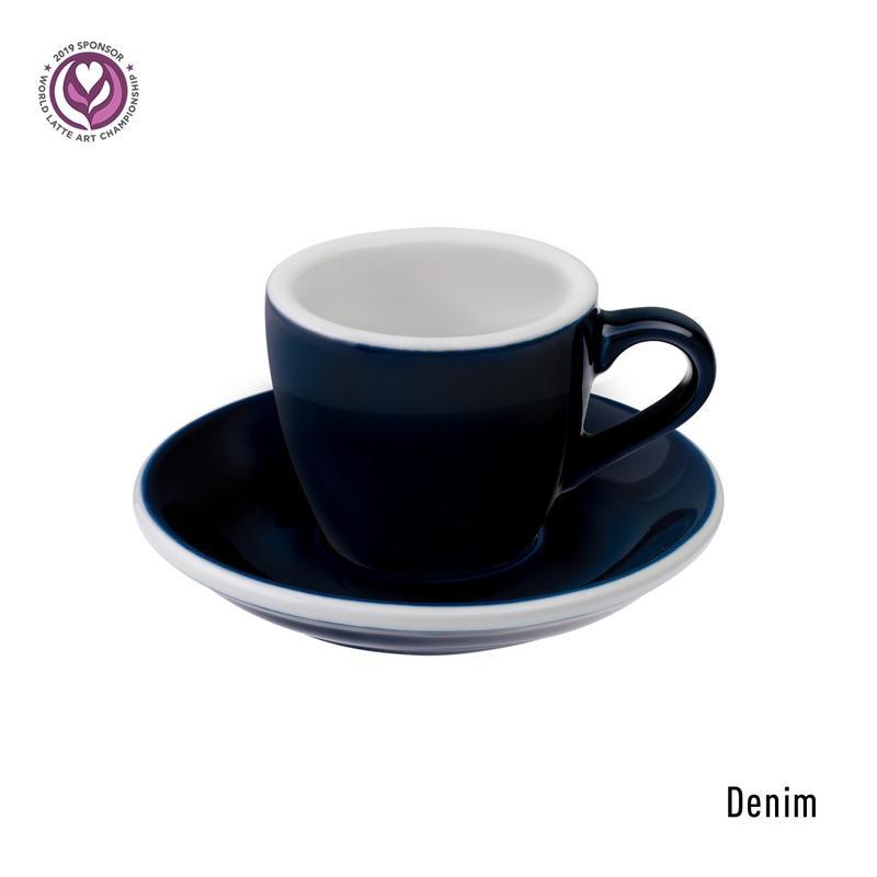 Loveramics egg espresso tas en ondertas (80ml) denim