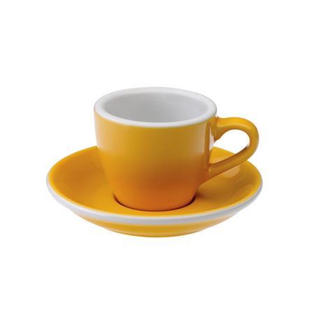 Loveramics egg espresso tas en ondertas (80ml) Geel
