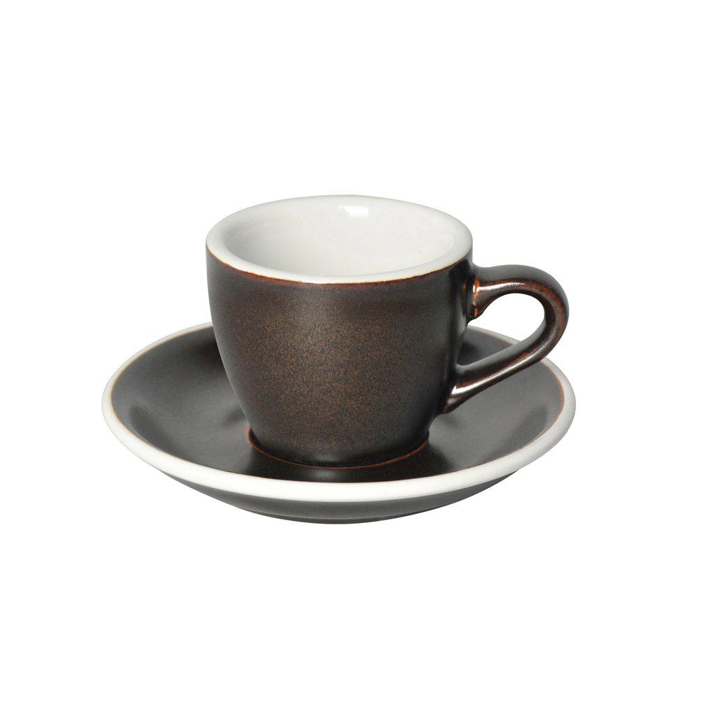 Loveramics egg espresso tas en ondertas (80ml) gunpowder