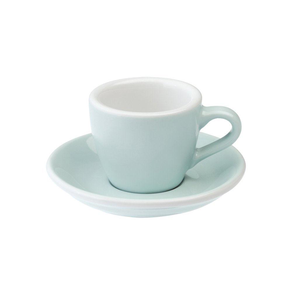 Loveramics egg espresso tas en ondertas (80ml) river blue