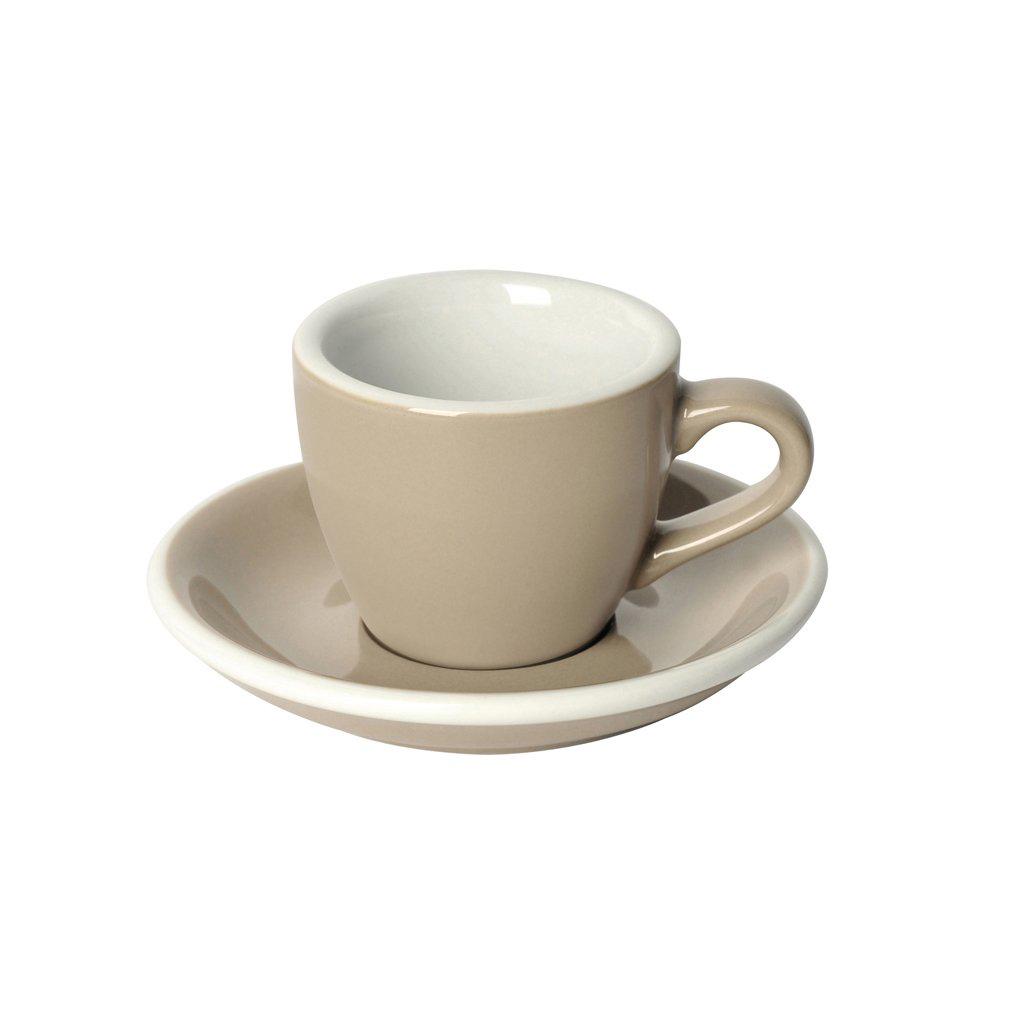 Loveramics egg espresso tas en ondertas (80ml) taupe