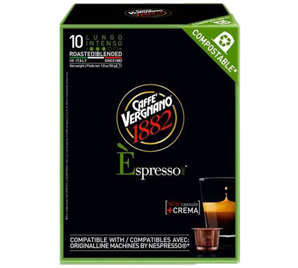 Caffe Vergnano Lungo Intenso capsules voor nespresso (10st )
