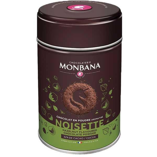 Monbana chocoladedrank hazelnoot (250gr)
