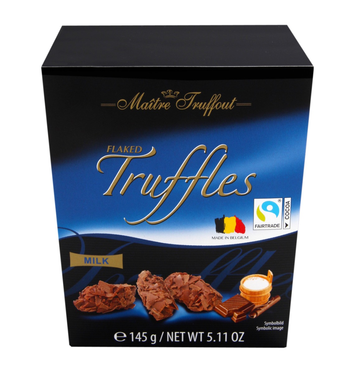 Truffelpralines met melkchocolade-vlokken
